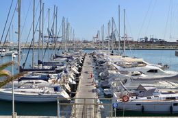 Docked boats at the port in Valencia. , David Lally - May 2015