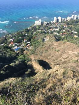 View of Honolulu from Diamond Head summit. , Michael F - January 2017