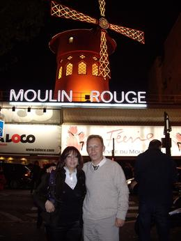 Dima and Marina in Paris by Night Moulin Rouge Show., Dmitry R - October 2008