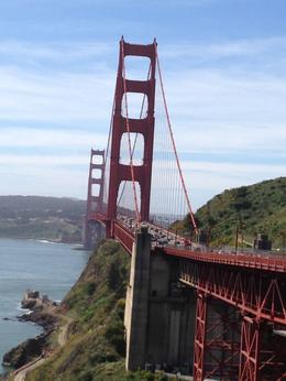 A view of the Golden Gate Bridge , Rowena Z - April 2013