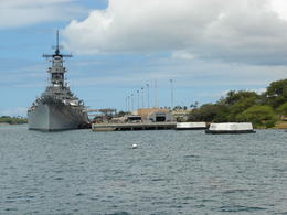 On the way to Arizona memorial. , Leslie B - June 2013