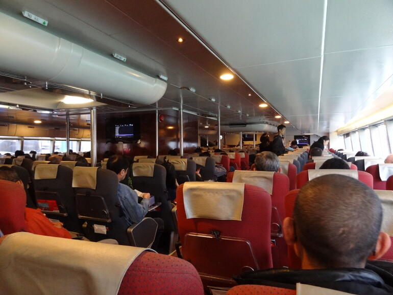 Onboard the TurboJET Fast Ferry - Macau
