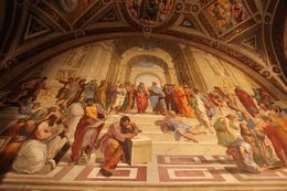 All the masterminds, Michelangelo, Euclid etc in Raphael's room. , Choudhury N - August 2016