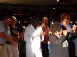 Singing Oh Happy Days in the Cotton Club with Vivian Bell , Inge B - June 2012