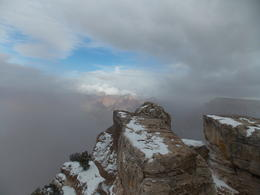 This is at the South Rim during a chilly February morning. It wasn't too cold, just a little chilly. It had snowed a little that morning and actually made for some really pretty pictures. , 1upnorth - March 2014
