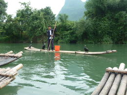 on our bamboo raft we had a look into an ancient tradition of catching fish. , 123gabyn - June 2012