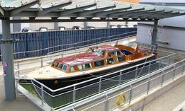Royal Yacht Britannia: This boat is lowered over the side when the Queen needs to go ashore - July 2011