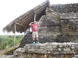 My son posing for the camera at the Moon Temple , James G - January 2014