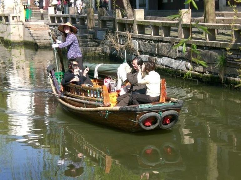 Gondolier in Zhouzhiang - Shanghai