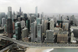 The views are something you must see from a helicopter in Chicago., Katie Aune - February 2013