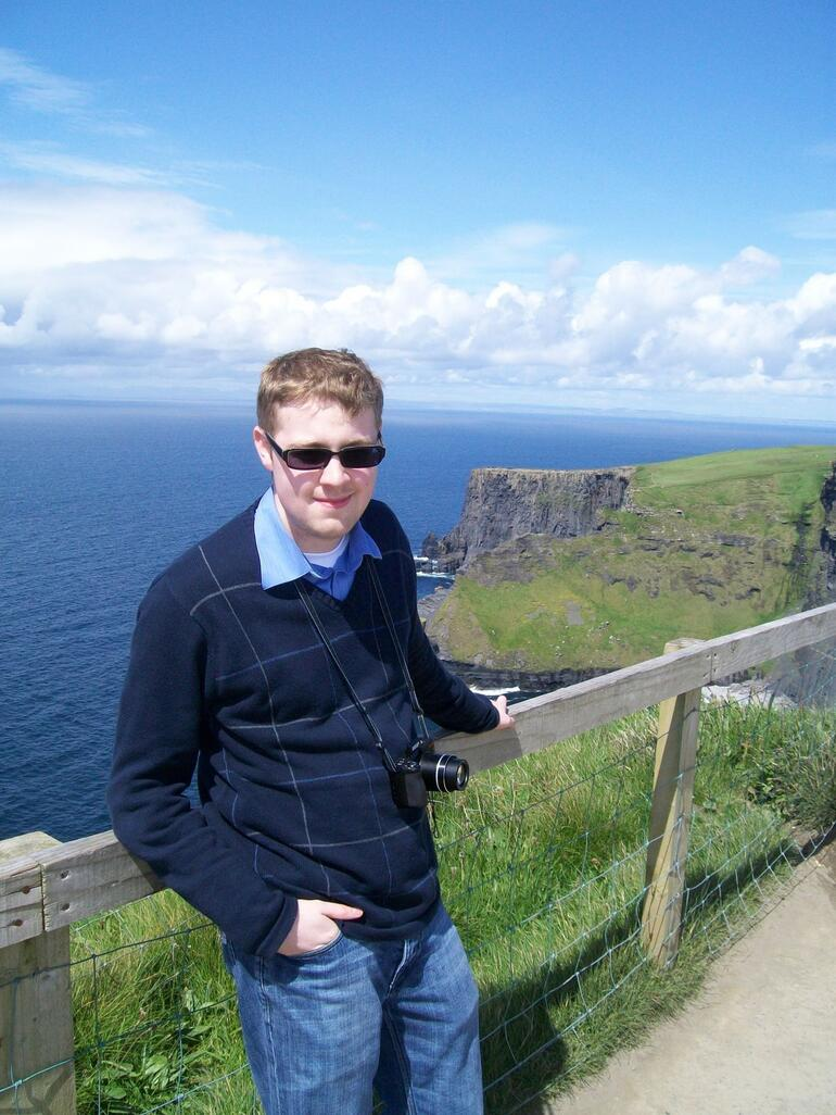 Jake at Cliffs Of Moher - May 2009 - Dublin