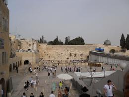 View of worshippers at the Western Wall - August 2010