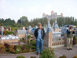 My husband Robin in the small city. Great place for young and old alike., Kim R - October 2008
