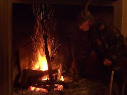 Tending the fire, BEV B - January 2009