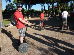 Our guide is in the background on the red Segway. - August 2010