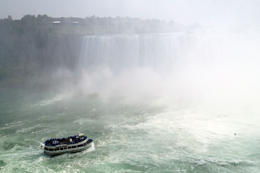 You can see the Maid of the Mist boat, Jules & Brock - September 2012