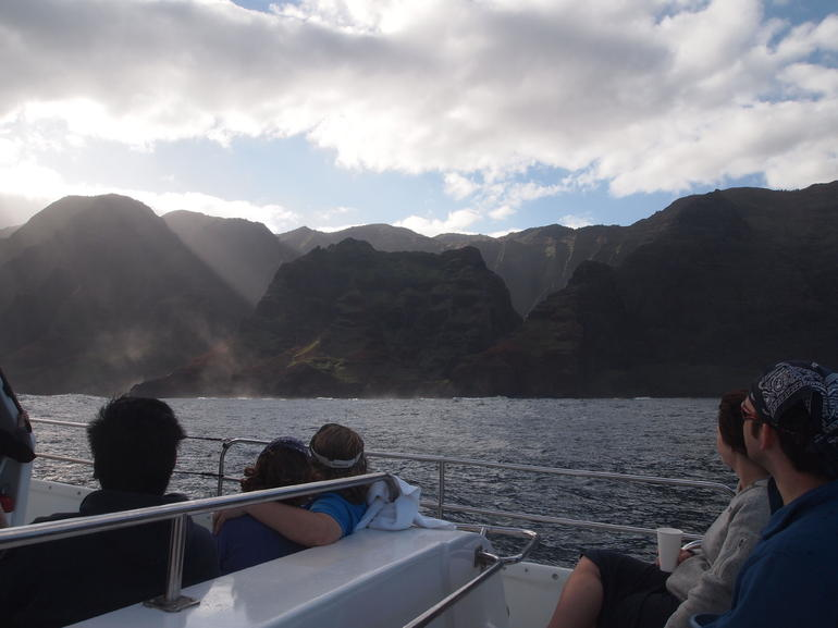 Our group on the Na Pali cruise - Kauai