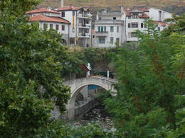 Mostar's smaller bridge. , Vicki M - November 2012