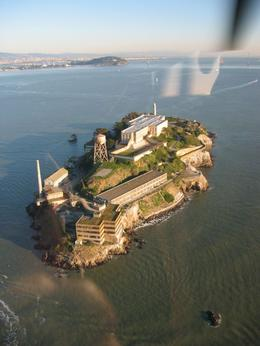 Alcatraz from the air, as we fly over., Global Nomad - February 2008
