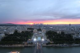 Sunset from the top of the Eiffel Tower , Annette A - July 2016
