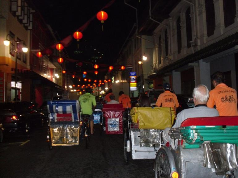 Trishaw ride through Chinatown - Singapore