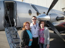 With our pilot, heading out to the Grand Canyon, charley - June 2011