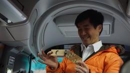 Taki, in the bus, demonstrating the secret box , Larry G - March 2017