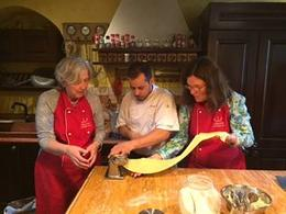 Making pasta with Francesco. , Lee T - March 2017