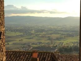 view into valley from Assisi , emerson h - January 2018