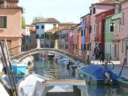 Colorful buildings iand houses n Burano , Barbara H - October 2011