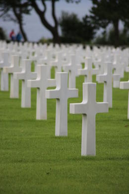 Field of crosses ... American Cemetery at Normandy. , John C - September 2012