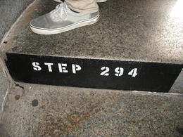 This is the last step to reach the top number 294! , Samuel B - October 2013