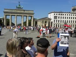 Our tour guide Jim explaining the history of the Brandenburg Gate and surrounding locations. , gemini9658 - August 2012