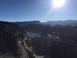 View of the Hoover Dam from the Mike O'CallaghanPat Tillman Memorial Bridge , Bianca - July 2016