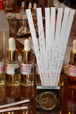 Sniffing different perfumes... , Yvonne A - August 2012