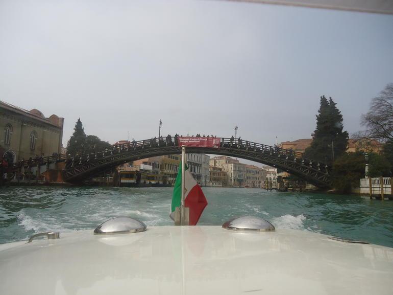 In taxi - Venice