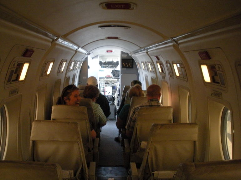 Inside our plane - Las Vegas