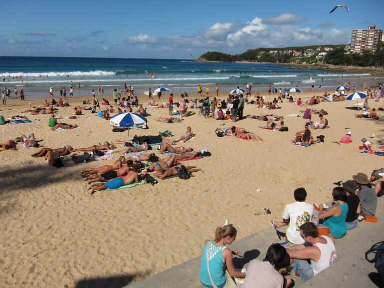 Manly Beach - it was worth the walk! -