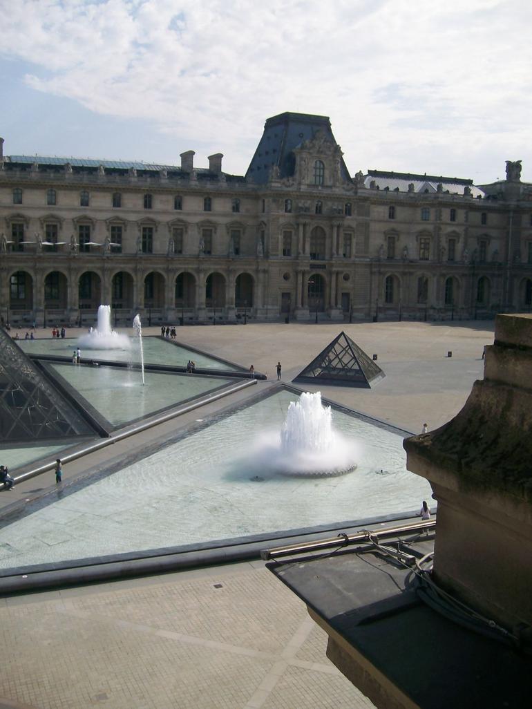 Outside the Louvre - Paris