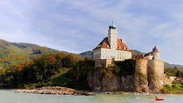 12th century built Castle along the Danube River , C S - October 2013