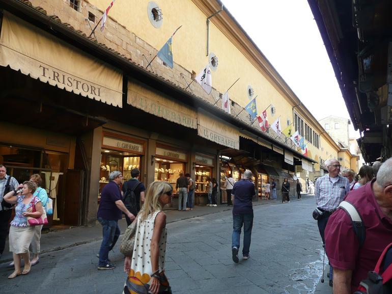 Shops on Ponte Vecchio - Florence