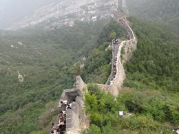 This is a beautiful view of the great wall , Kara S - September 2013