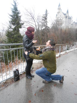 It was snowing, the castle in the background, i would like to thank our tour guide for capturing this perfect moment , DARREN J - January 2013