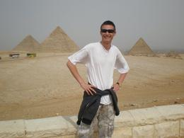 Our son Ross had wanted to see the pyramids of Giza since he was a little boy and now at the age of 18 he finally made it. They didn't disappoint., KAREN D - April 2010
