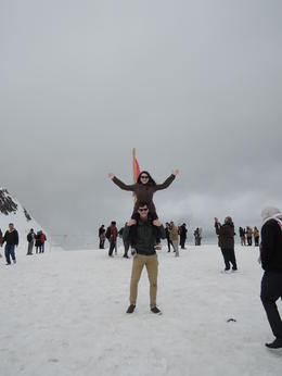 Me and my boyfriend at the top of Jungfraujoch! , Georgia W - October 2016