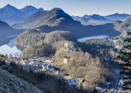 Looking down on Hohenschwangau Castle , Maxine M - January 2017