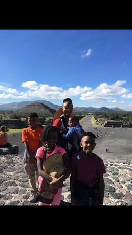 My children and I after climbing the pyramid of the Moon! , SHANTA R - January 2018
