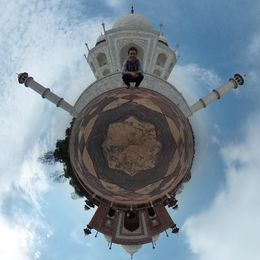 360 photo at the Taj Mahal , Noah B - March 2015