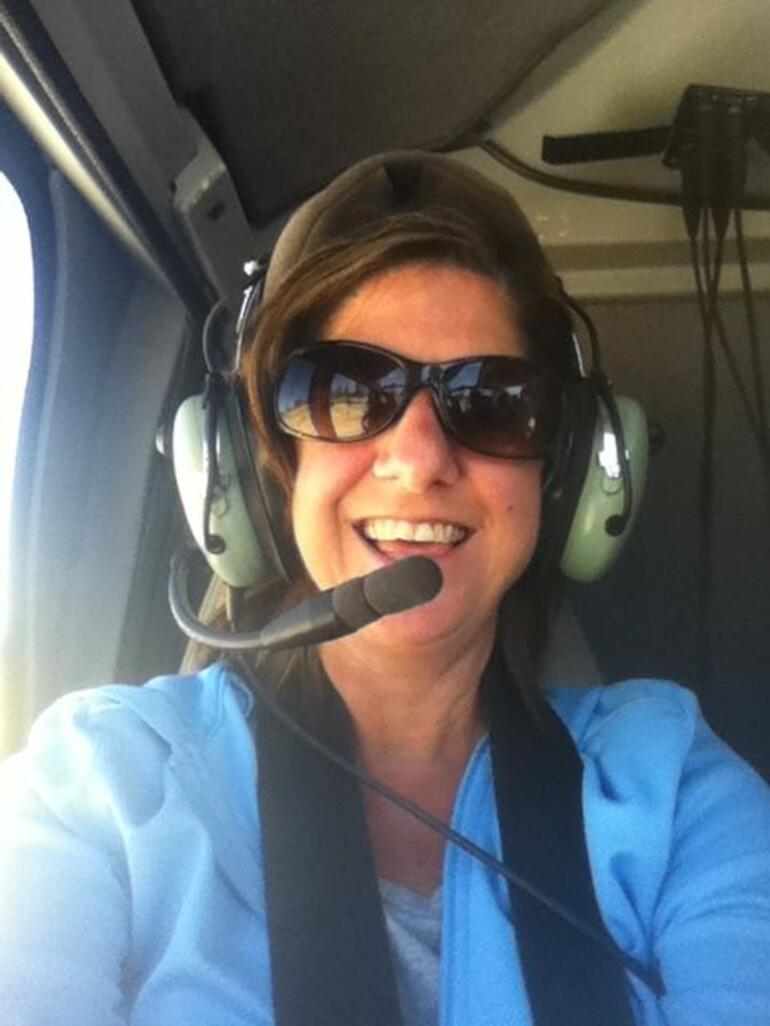 Alesia in the helicopter - Las Vegas