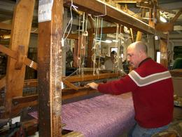 Avoca weaver, on the Dublin rail tour., Elizabeth C - October 2007